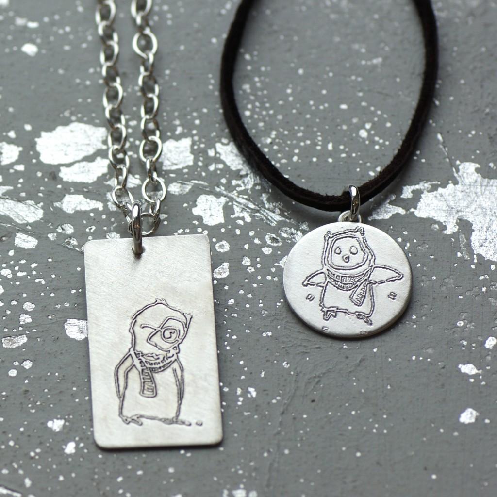 Line Art Jewellery : Illustrated jewelry line